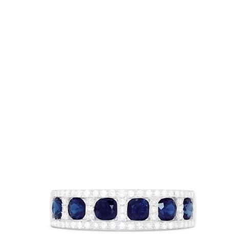 Effy Royale Bleu 14K White Gold Sapphire and Diamond Ring, 1.66 TCW