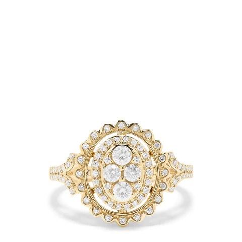 Effy D'oro 14K Yellow Gold Diamond Ring, 0.70 TCW