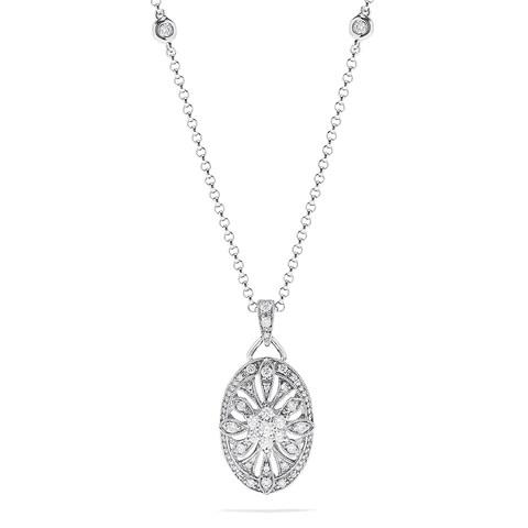 Effy 14K White Gold Diamond Necklace, 0.42 TCW