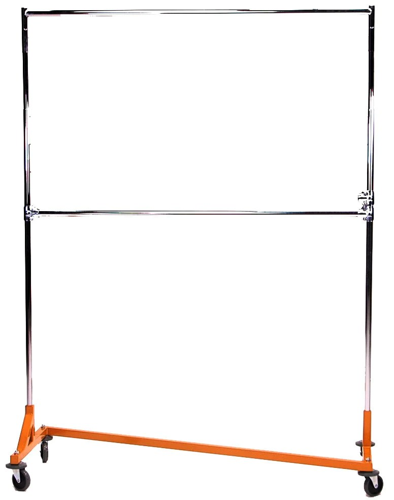 z rack double hang rails heavy duty 5 ft to 6 ft uprights adjustable