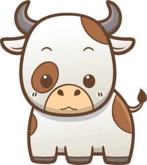kawaii cow cartoon animal farm simple icon sticker vinyl decal stickers