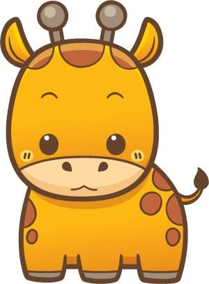 giraffe cartoon zoo animal kawaii simple icon stickers decal vinyl sticker animals drawings shinobi drawing