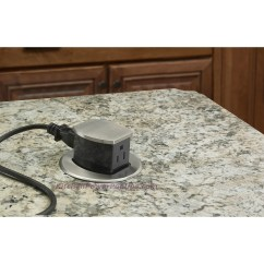 Kitchen Power Grommet Small Commercial Hubbell Rct200alu Waterproof Dual Sided Pop Up Counter