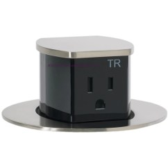Pop Up Electrical Outlet For Kitchen Saloom Tables Hubbell Rct201ni Waterproof Flush Mount Counter ...