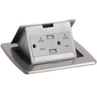 PUFP-CT-SS-20A-2USB-WC Kitchen Pop Up 20A USB Corded ...