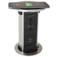 PUR20-RSS-GFI-2USB-QI Pop Up 20A USB/GFI, Wireless ...