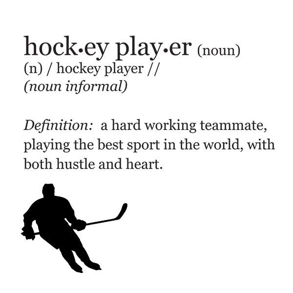 hockey player definition t