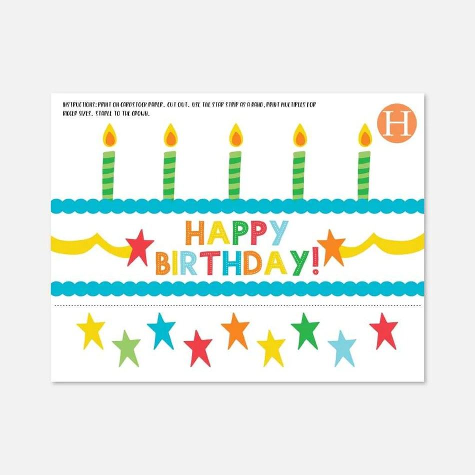 Printable Happy Birthday Crown Template Hadley Designs