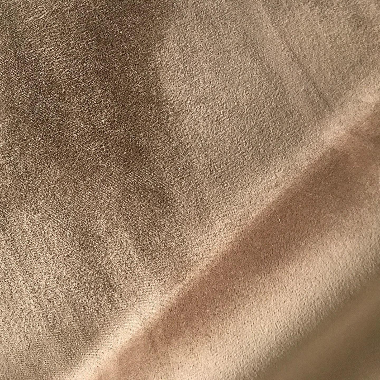 suede sofa fabric sack bean bags bag chair 3 navy camel velvet blend upholstery  plankroad