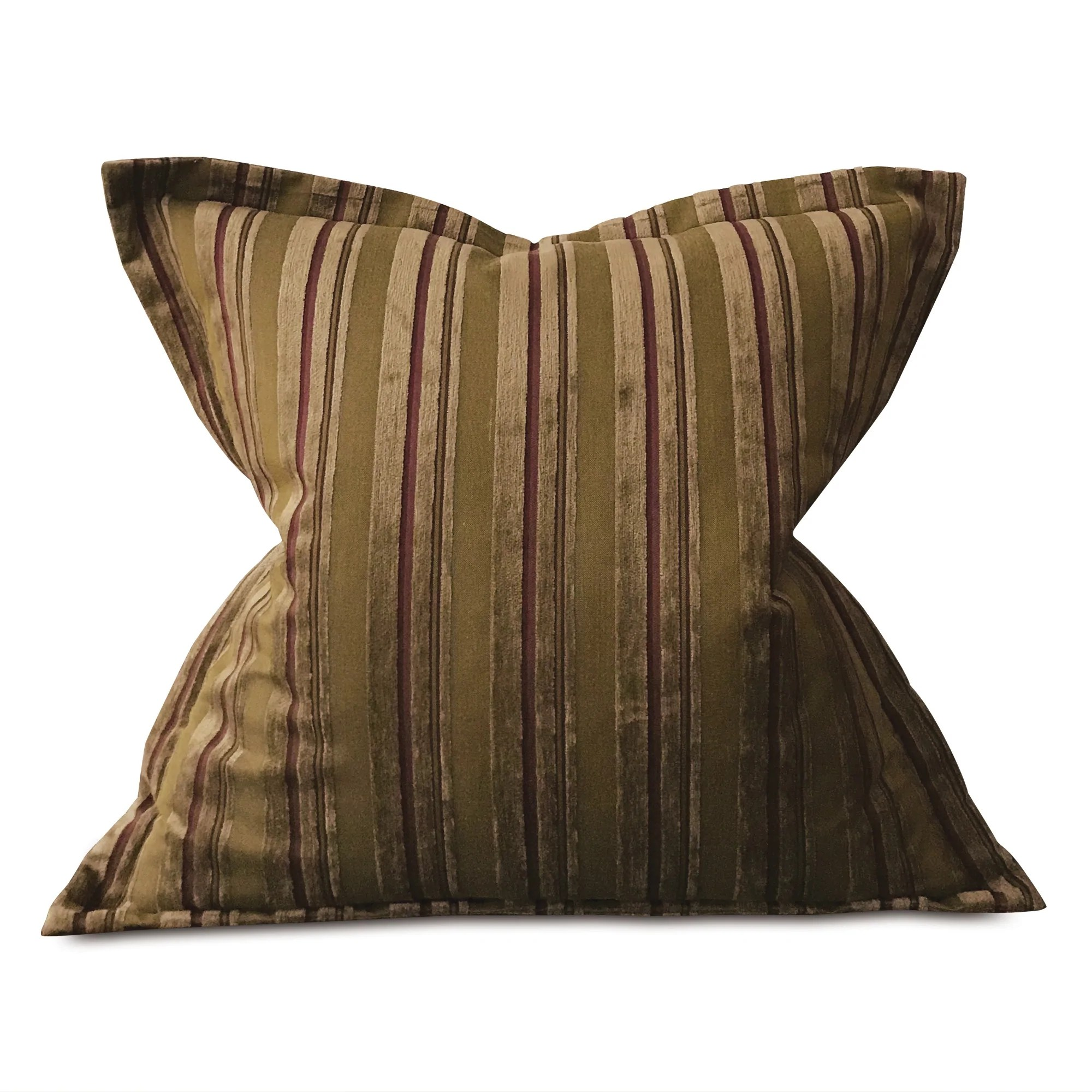 Earth Tone Velvet Textured Woven Striped Oversized Decorative Pillow C Plankroad Home Outlet
