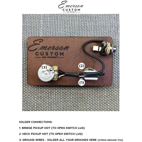 CABRONITA TELECASTER PREWIRED KIT – Emerson Custom