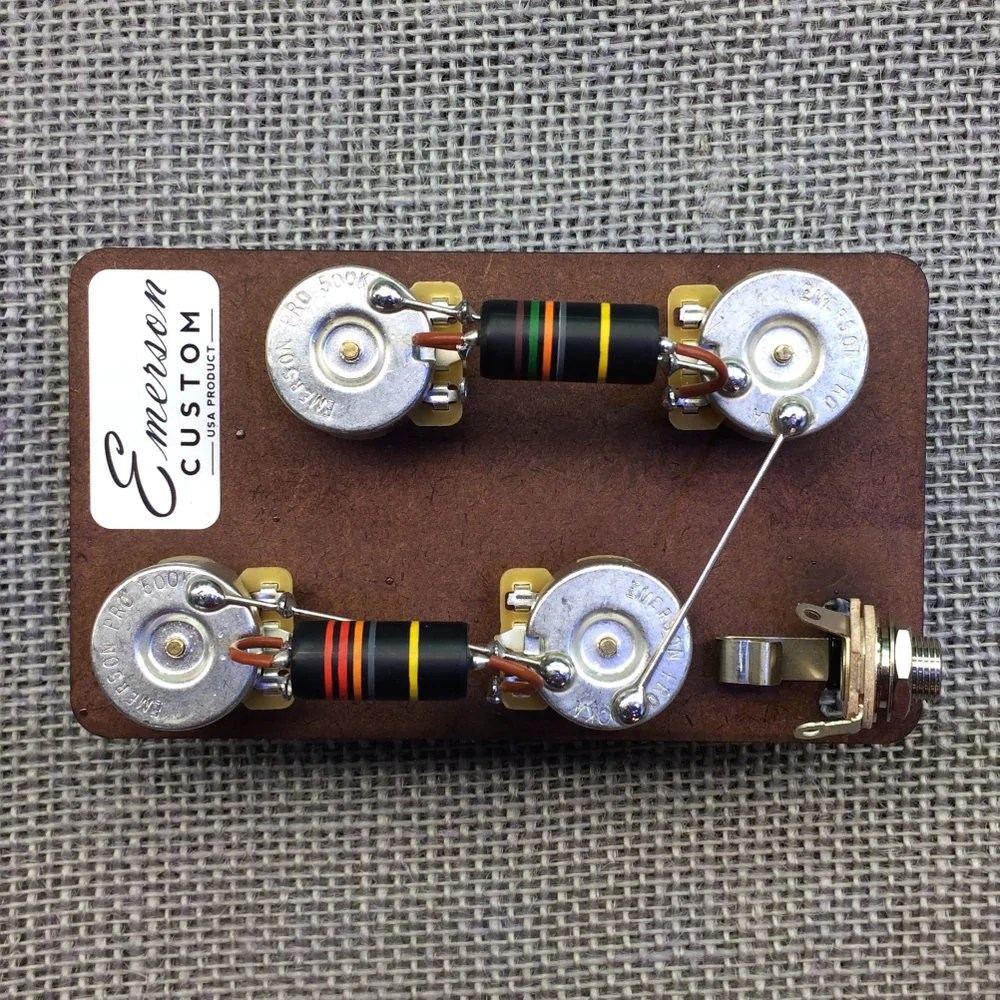 medium resolution of les paul prewired kit emerson custom emerson jazz bass wiring harness emerson wiring harness