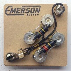 50 S Style Les Paul Wiring Diagram Wb Holden Sg Prewired Kit Emerson Custom
