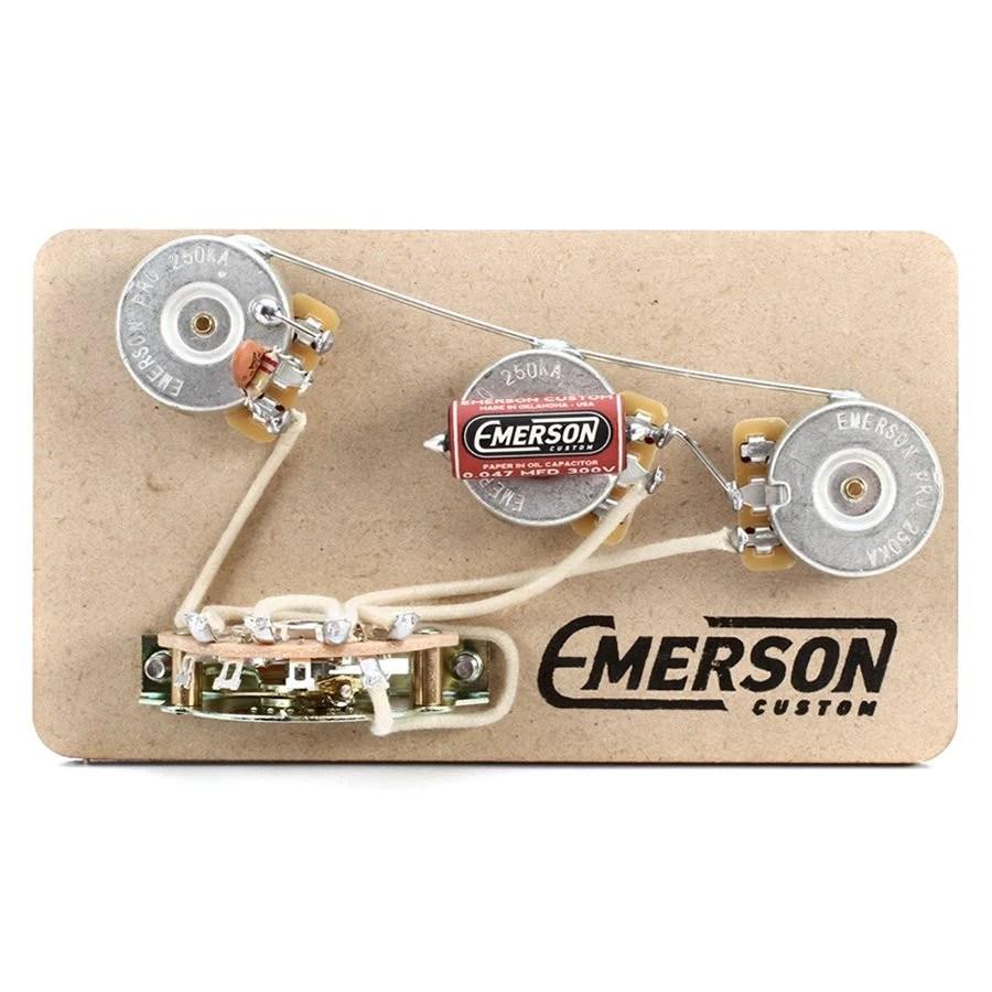 standard stratocaster wiring diagram universal motor blender 5 way strat prewired kit emerson custom
