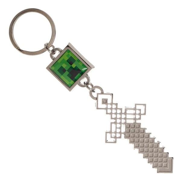 sword creeper minecraft keychain