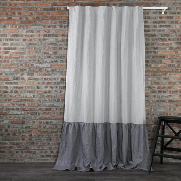 Buy Our Ruffles Linen Window Curtain At Linensheduk LinenshedUK