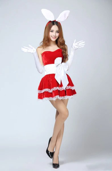 K30 Fashionable Lingerie Women Christmas Perform Costumes Short Santa Online Shopping Wish