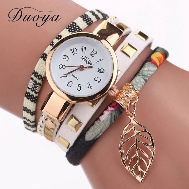 W02 Fashion Ladies Watches Women Dress Luxury Leaf Watch Online Shopping Wish