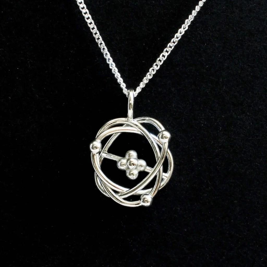 atomic model pendant pendant ontogenie science jewelry  [ 1024 x 768 Pixel ]