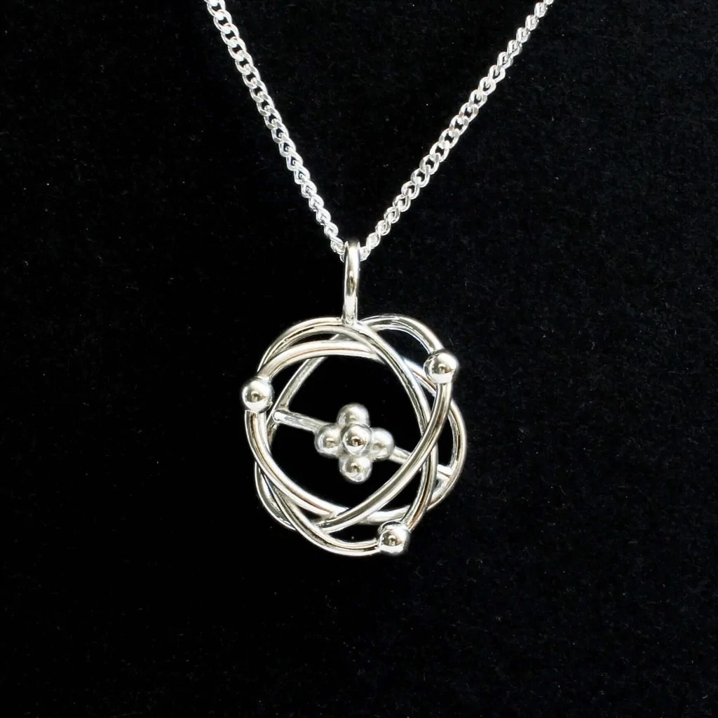 small resolution of atomic model pendant pendant ontogenie science jewelry