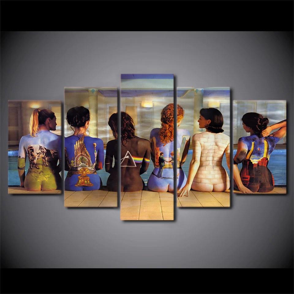 Pink Floyd Women Back Figures  5 Piece Canvas Wall Art