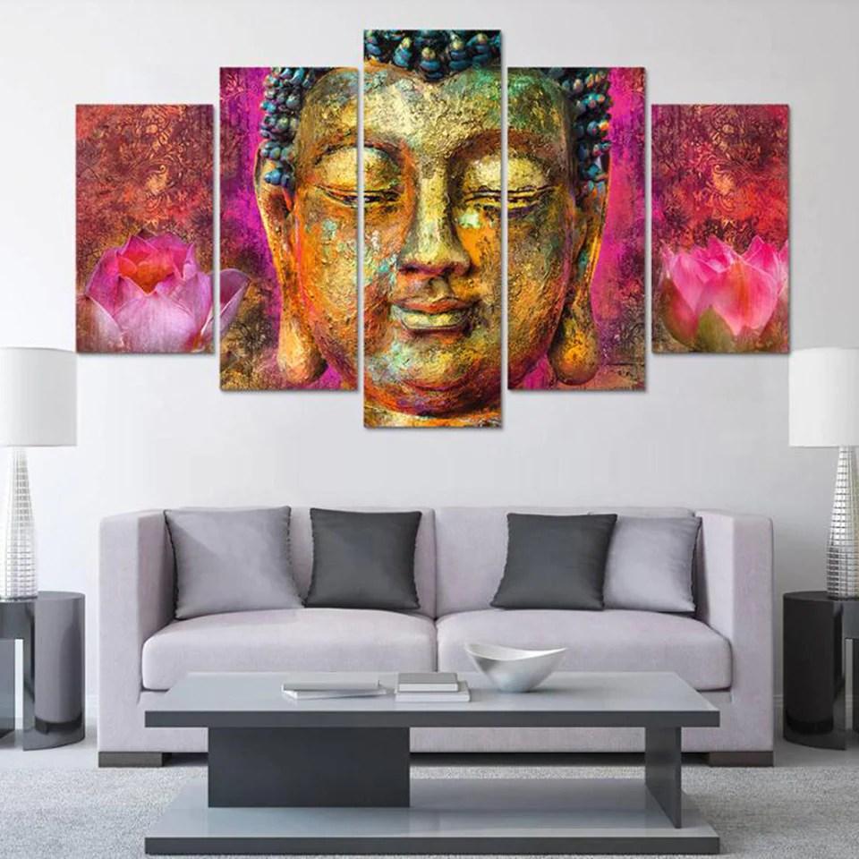 Colorful Buddha HD Printed Canvas Art