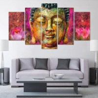 Colorful Buddha HD Printed Canvas Art