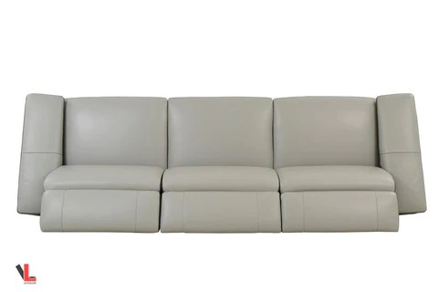 grey power reclining sofa stretch pique full sleeper slipcover aura top grain light leather vancouver