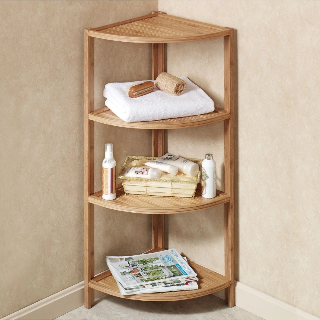 Mosa Bamboo Bamboo Corner Shelf Bathroom Shower Organizer