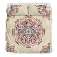 Hawaiian Bedding Set - Mandala Turtle Duvet Cover ...