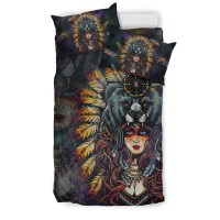 Native American Indian Girl Bedding Set  1stTheWorld