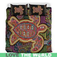 Colorful Turtle Hawaiian Bedding Set C1  1stTheWorld