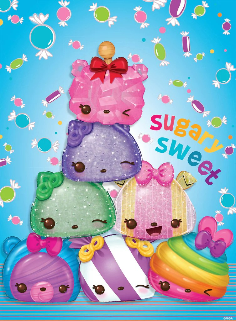 Cute Cartoon Faces Wallpaper Num Noms Sugary Sweet 100 Piece Puzzle Ceaco Com