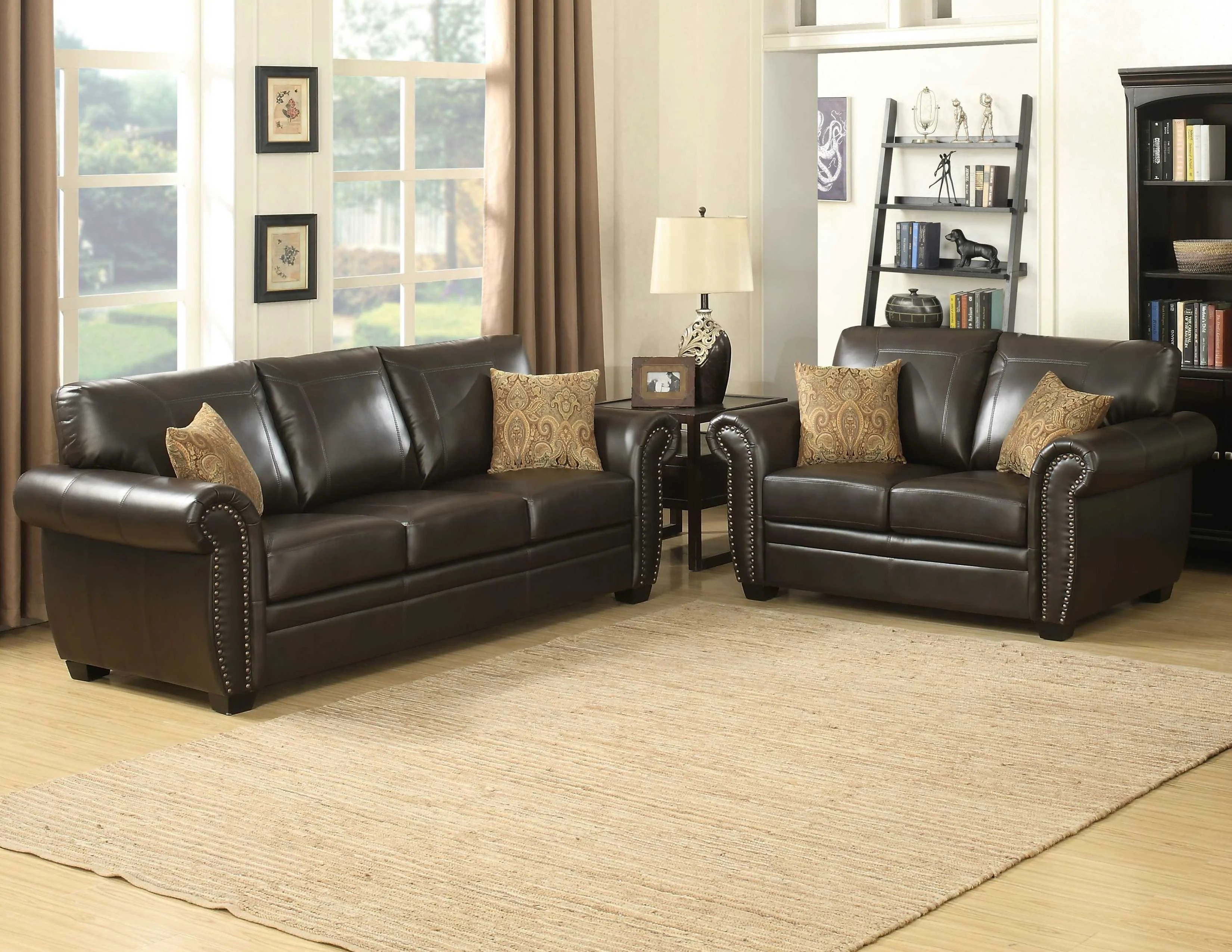 ryker reclining sofa and loveseat 2 piece set 66 rv shop for living room sets at homegazers 3 stationary bill contemporary brown