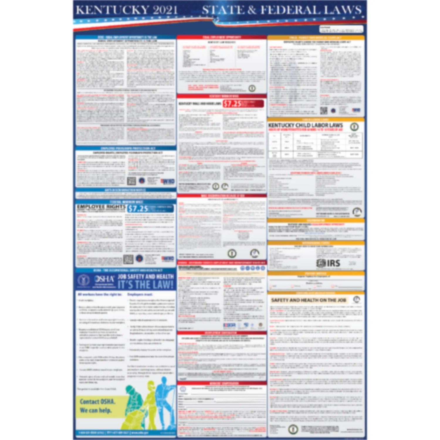 compliance audit center state labor poster