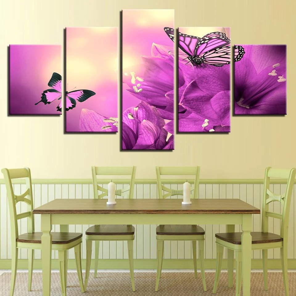 framed pictures purple flowers | Siteframes.co