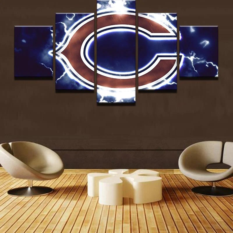 Piece Chicago Bears Football Canvas Wall Art Paintings For Sale ...