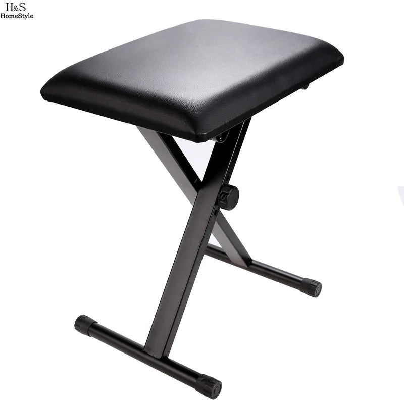stool chair adjustable breakfast nook chairs south africa folding piano keyboard bench leather padded seat rubb rubber feet dealsblast