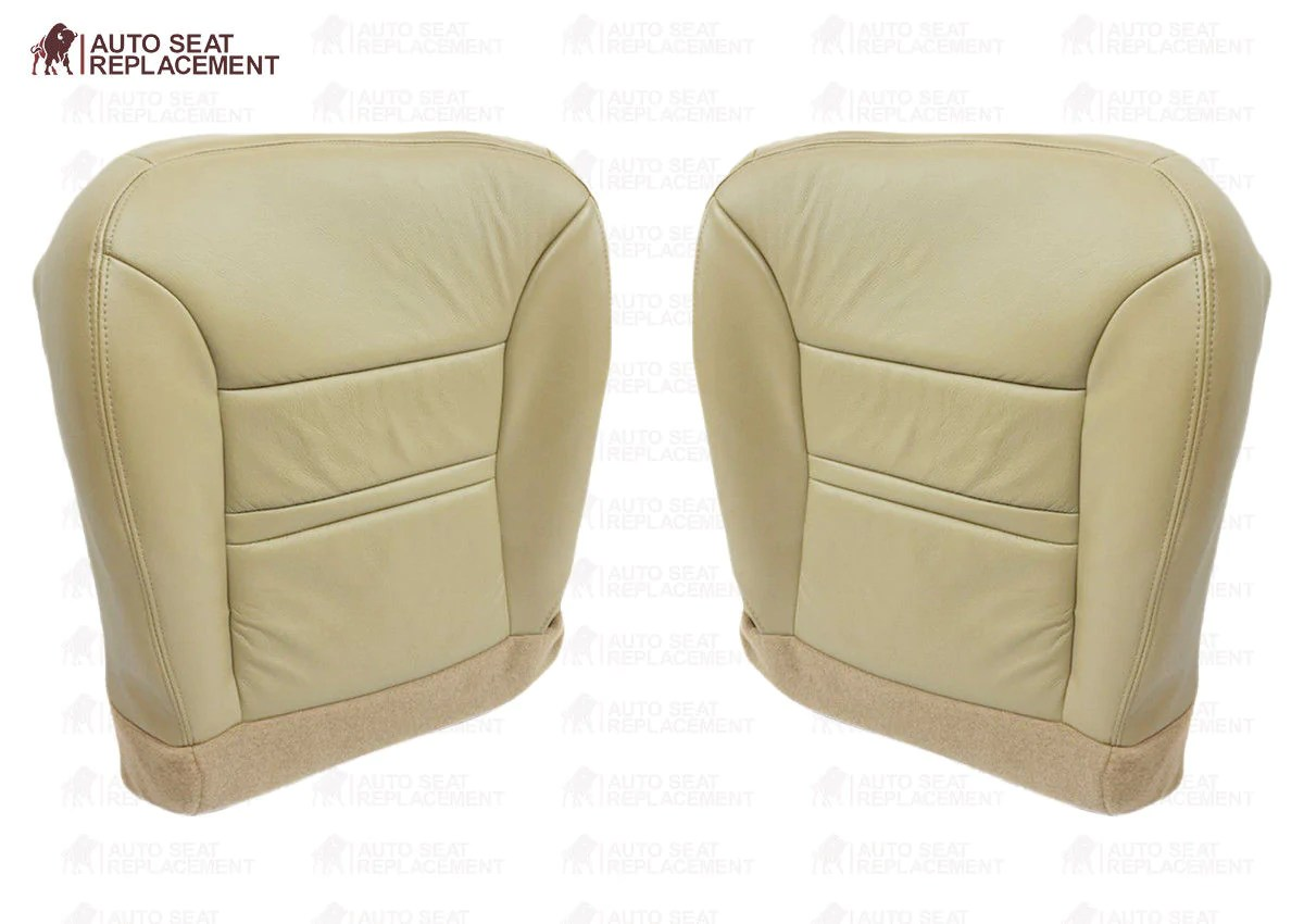 hight resolution of  2000 2001 ford excursion driver or passenger bottom seat cover replacement tan auto seat replacement