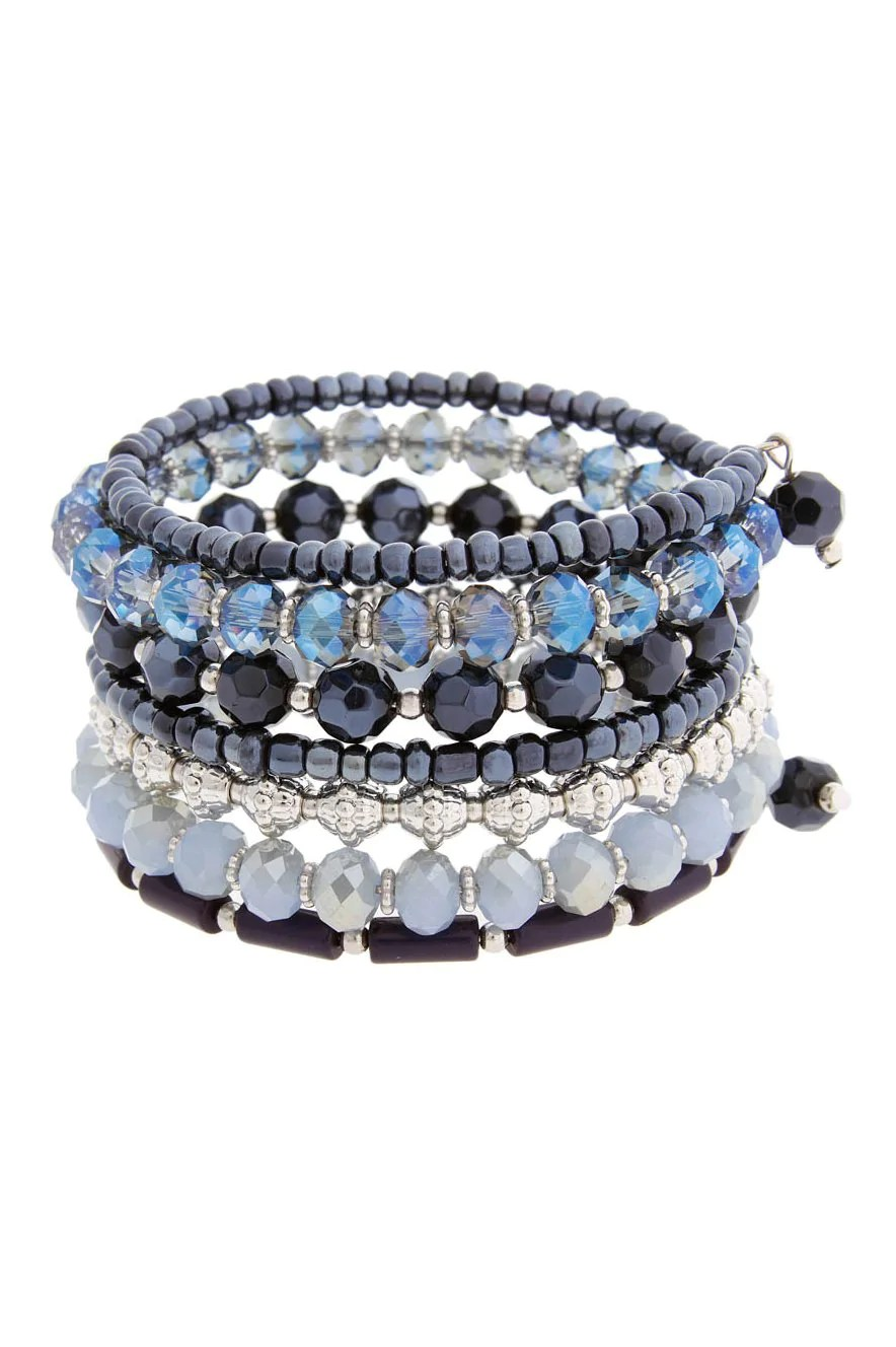 Erica Lyons Shades Of Blue Coil Bracelet
