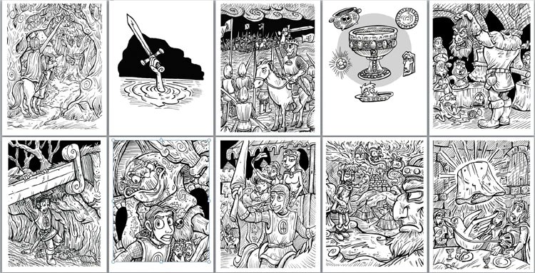 King Arthur And The Knights Of The Round Table Coloring Pages Creative English Teacher
