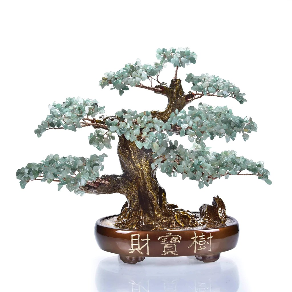 Aventurine Natural Gemstone Tree Of Life With Resin And