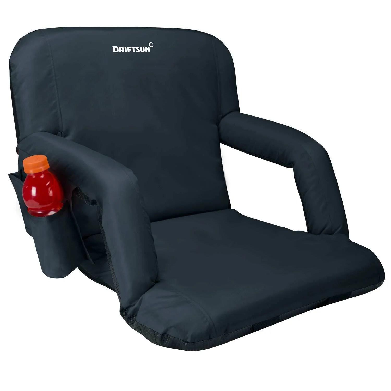 Padded Folding Reclining Back Bleacher Seat Stadium Chair Driftsun Marketfleet Inc