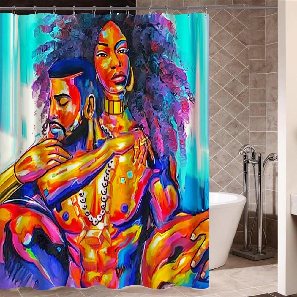 Graffiti Art Modern Design African Shower Curtain