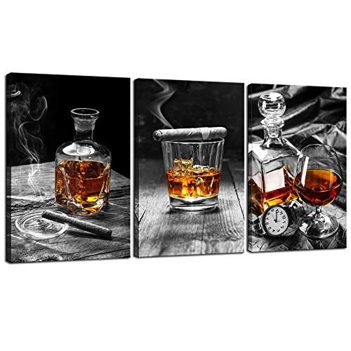 framed prints for kitchens hanging light fixtures kitchen sea charm canvas wall art cigar whisky liquor still