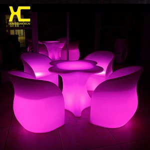 led table and chairs wedding chair covers worcestershire chargeable remote control lighted cordless bar set