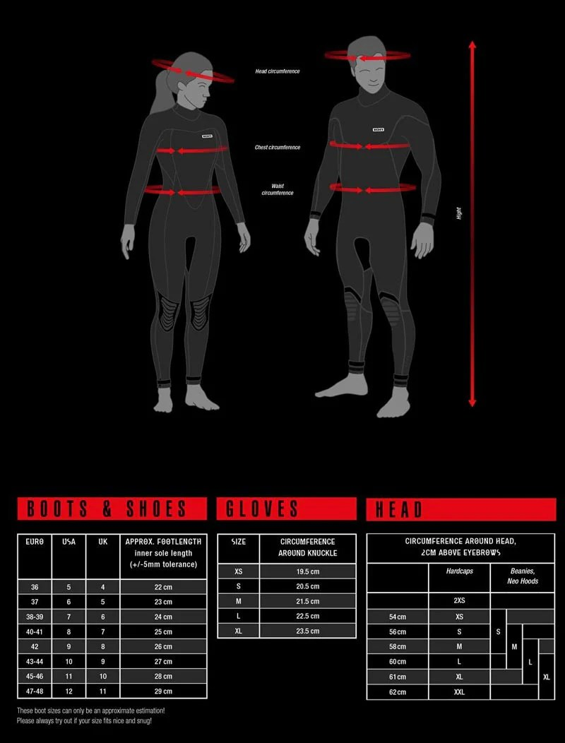 Ion wetsuits size chart also shop now surfnow rh