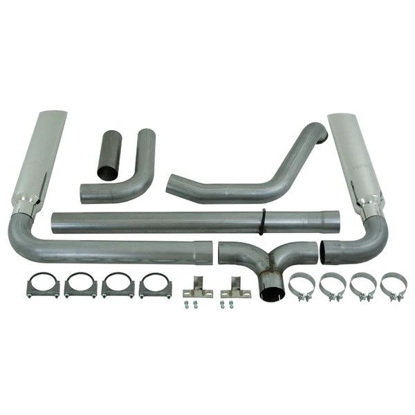 mbrp 4 installer series turbo back dual exhaust stack system w tips 99 03