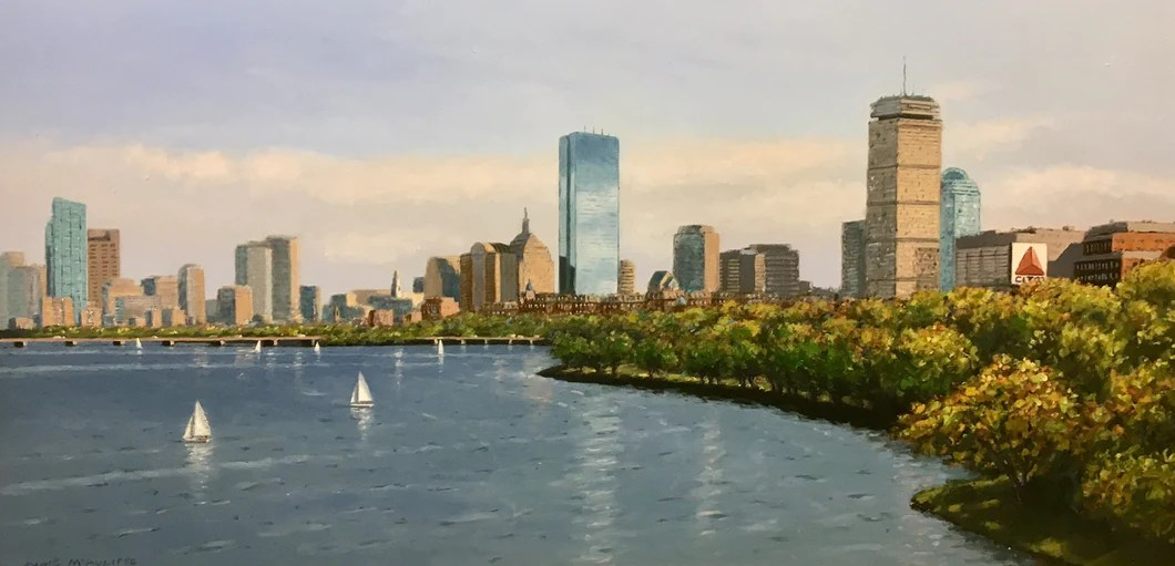 charles river panorama by