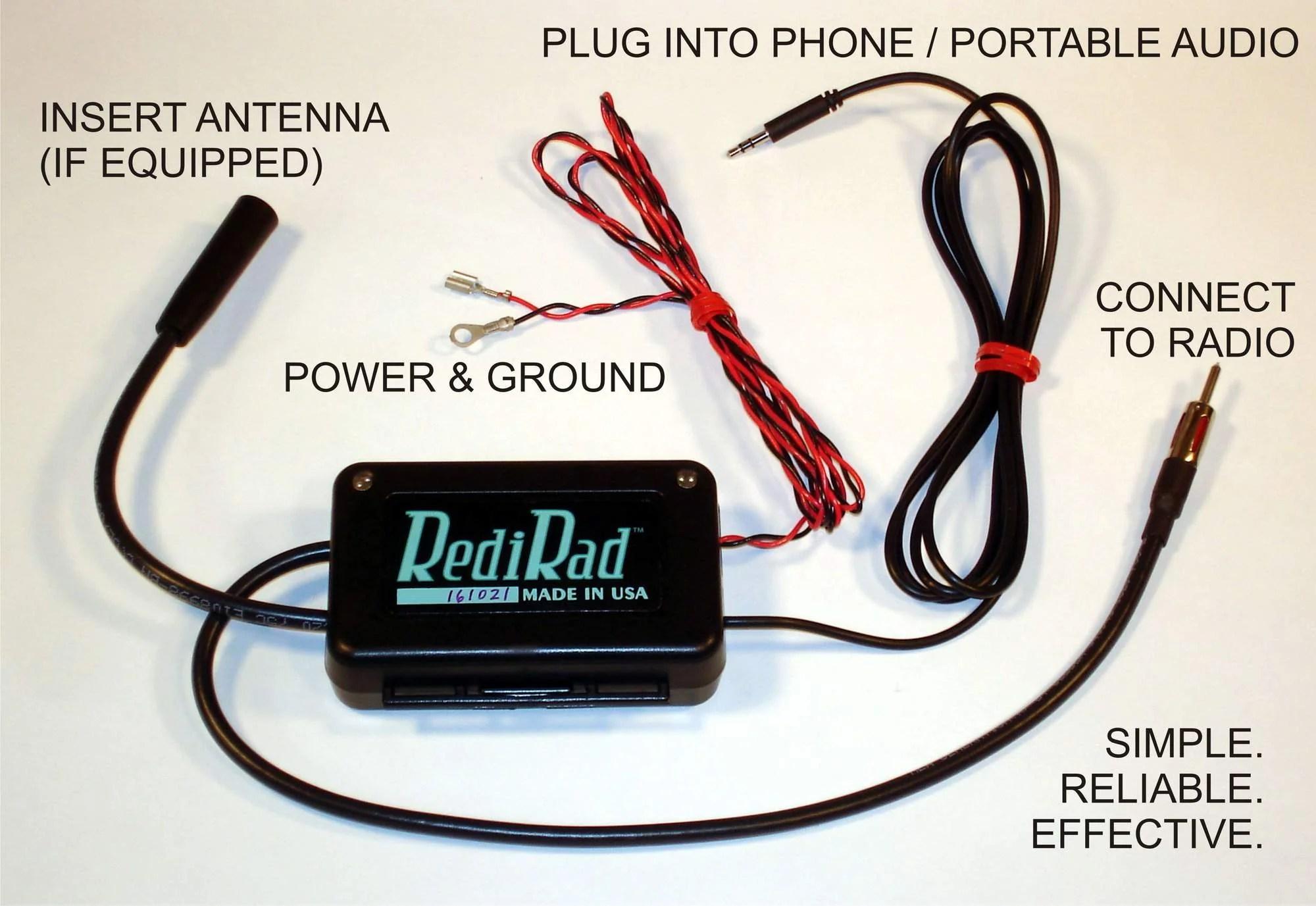 medium resolution of redirad rr am n antenna bypass am modulator aux input classic car radio negative